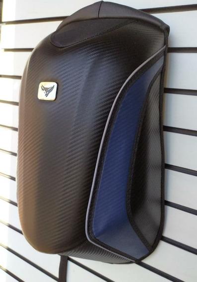 Mochila Motociclista Cupim Rígido Impermeável Notebook Azul