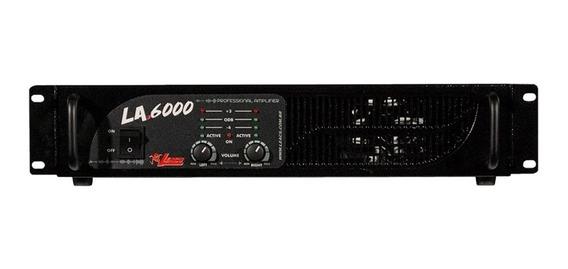 Amplificador Potência 1000 Watts Leacs La 6000 Bivolt