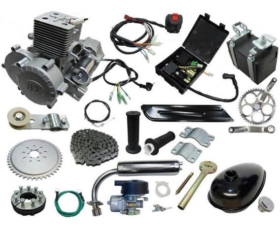 Kit Motor Para Bicicleta 80cc 2t Com Partida Elétrica