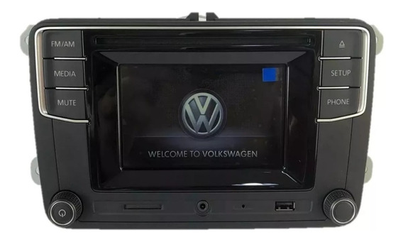Central Multimidia Vw Gol G7, Saveiro G7, Voayge Moldura 2 Din Bluetooth - Original Volkswagen