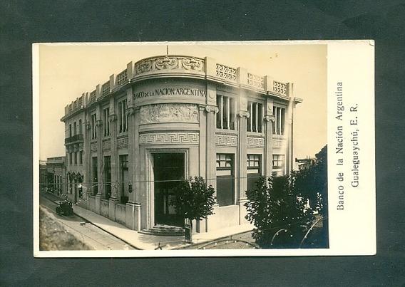 Gualeguaychu Banco Nacion . Antigua Tarjeta Postal .