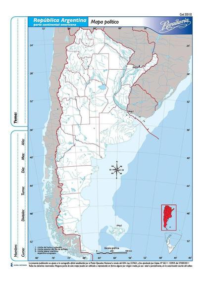 Rivadavia 9032 Mapa N°3 Político República Argentina