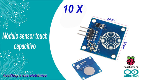 10 Unidades Módulo Sensor Touch Capacitivo Arduino.