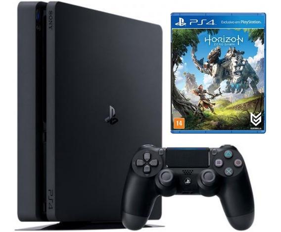 Playstation 4 Ps4 Slim 500gb + Controle + Horizon Zero Dawn