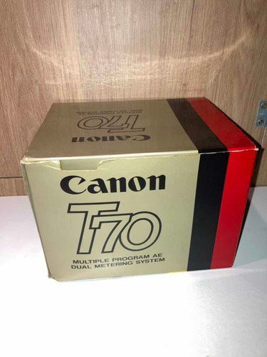 Cânon T70 + Command Back 70 Sem Uso , Ver Descrição Funciona