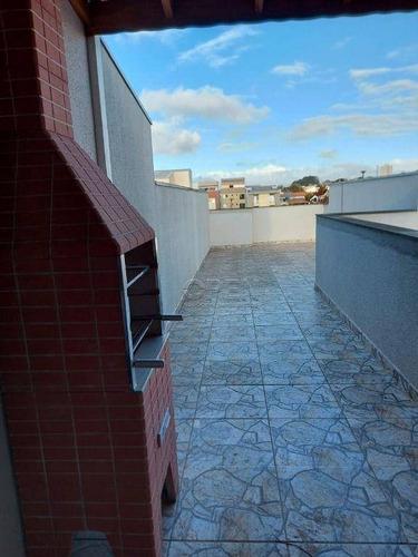 Imagem 1 de 17 de Cobertura Para Alugar, 100 M² Por R$ 2.300,00/mês - Vila Camilópolis - Santo André/sp - Co2571