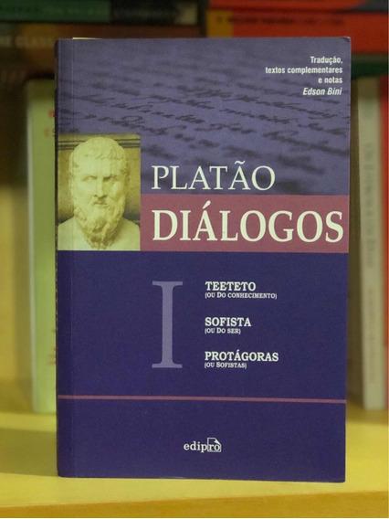 Livro Platão Diálogos I Teeteto Sofista E Protágoras Edipro