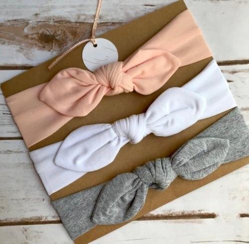 Set X3 Turbantes Para Bebés Y Niñas.