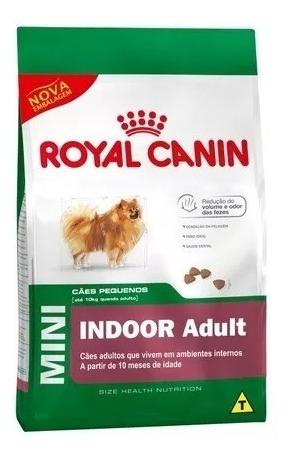 Ração Royal Canin Mini Indoor Cães Adultos De Raç Peq 7,5kg