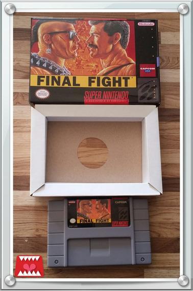 Final Fight Paralelo C/ Caixa E Berço Super Nintendo Snes