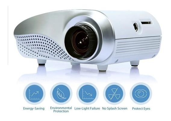 Mini Projetor Led 1000:1 Hdmi 1080 P Hd Portátil Vga Tv