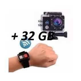 Câmera Sport Prova Dágua 4k Wifi C/ Controle + Cartao 32gb