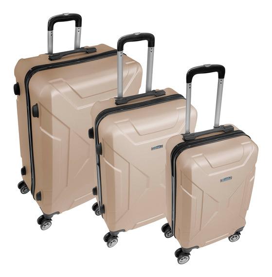 Maletas Set Kit 3 Rigidas Viaje 4 Ruedas Candado Seguridad