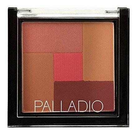 Palladio 2-en-1 Mosaico En Polvo Rubor Y Bronceador, Trufa R
