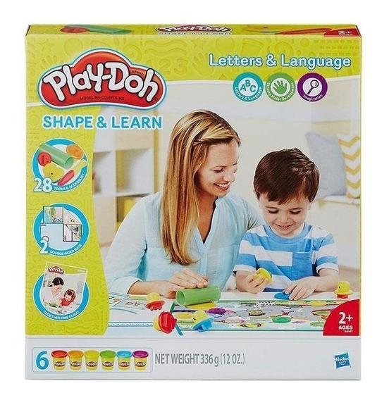 Play Doh Masa Letras Y Lenguaje B3407 Moldea Y Aprende
