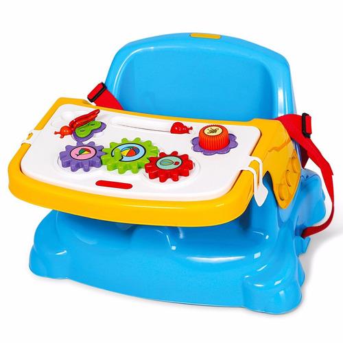 Cadeira Didatica Papinha P/ Bebes Azul Frete Grátis Poliplac