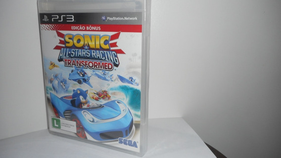 Sonic All-stars Racing Transformed Ps3 Mídia Física Lacrado