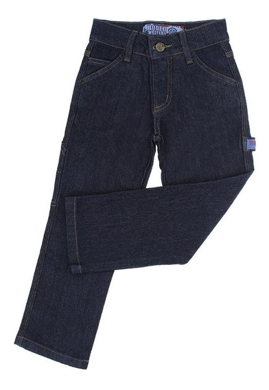 Calça Jeans Infantil Masculina Carpinteira Azul Rodeo Wester
