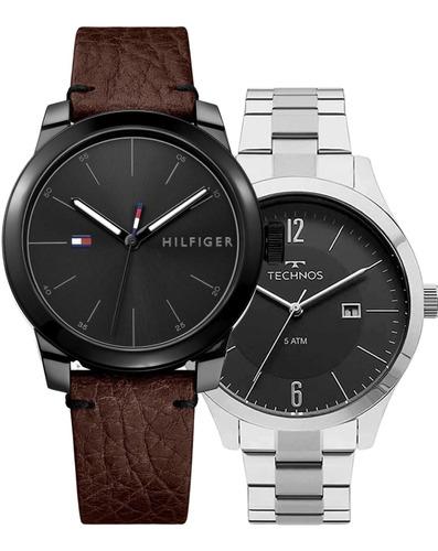Relógio Tommy Hilfiger Masculino + Relógio Technos Exclusivo