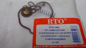 Kit Reparo Carburador Honda Titan 150 Sport 05-08