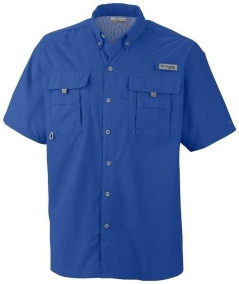 Camisa Hombre Columbia Manga Corta Bahama Filtro Uv