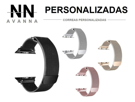 Correa Extensible Apple Watch Personalizada Acero Inoxidable