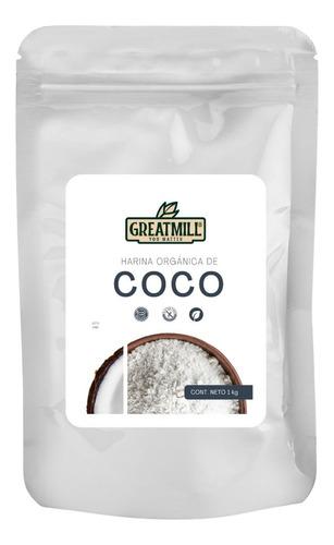 Imagen 1 de 3 de Harina De Coco Orgánica Sin Azúcar Mayoreo A Granel 1 Kg