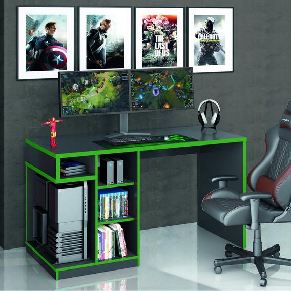Mesa Gamer Idl Xp 5k00 Siena Móveis Preto/verde Ei