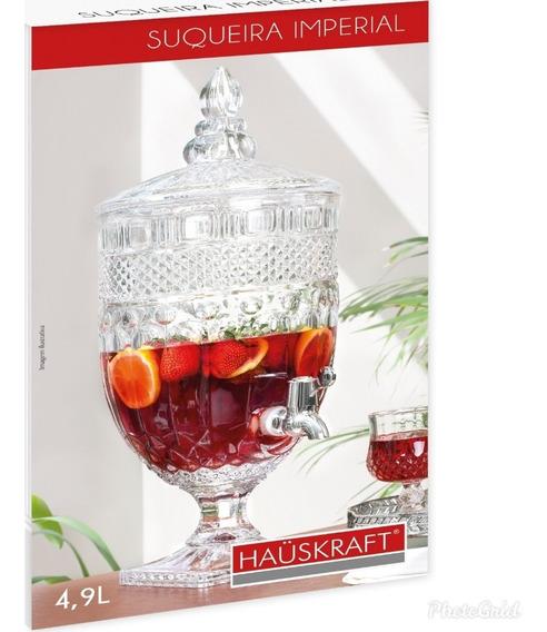 Suqueira Dispenser Cristal, Água Ou Bebida 4,9 Lts