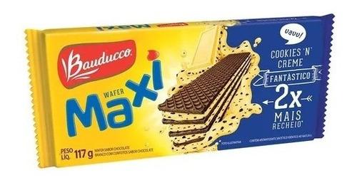 Imagem 1 de 1 de Wafer Maxi Cookies 'n' Creme Bauducco 117g