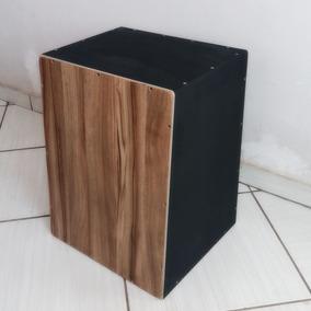 Cajón Acústico Com Esteira + Vassourinha Especial Para Cajon