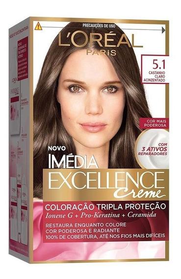 Coloração Imédia Excellence Creme 5.1 Cast Claro Acinzentado
