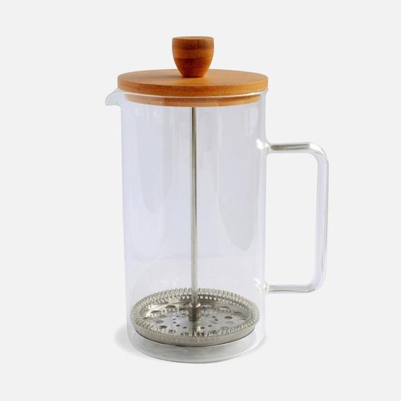 Cafetera De Vidrio C/ Tapa Bamboo 1000ml Embolo Cocina Morph