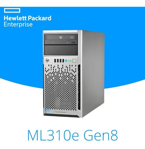 Servidor Hp Proliant Ml310e V2 G8 8gb Hd500 Completo! Novo!