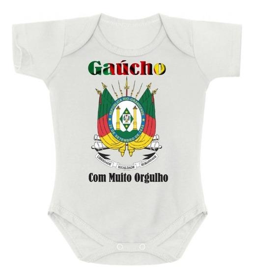 Body Bori Bebê Gaúcho Brasão Rio Grande Tchê Sou Do Sul