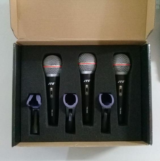 Kit Com 3 Microfones Dinamicos Jts Tm-989