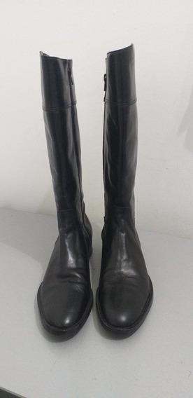Botas Caña Alta Únicos Pares Talle 39/40 Color Negro Y Zuela