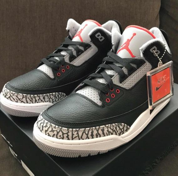 Air Jordan 3 Black Cement (2018 Originales)