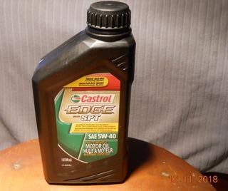 Aceite Full Sintetico 5w40 Castrol Solo 1 Pote De 800 Cc
