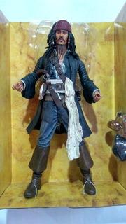 Muñeco Johnny Depp Piratas Del Caribe Con Accesorios.