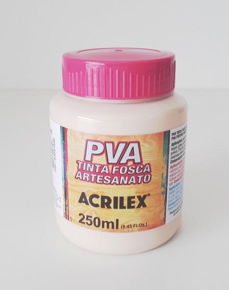 Tinta Pva Branca 250ml Acrilex Para Artesanato Mdf Provençal