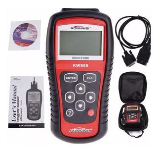 Escaner Automotriz Obd2 Eobd Konnwei Kw808 En Español