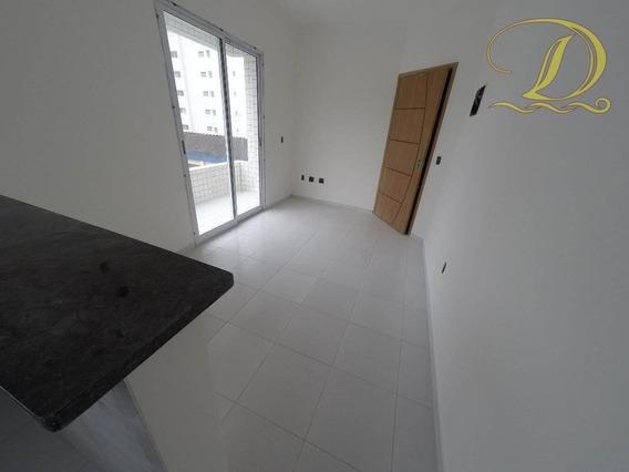 Apartamento De 1 Dormitório Com Sacada, 1 Quadra Da Praia No Forte E Aceita Parcelamento Direto Com O Proprietário!!! - Ap1474