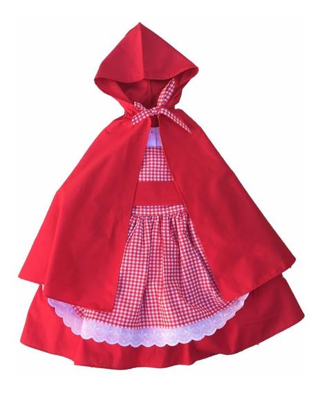 Vestido Chapeuzinho Vermelho Com Capuz