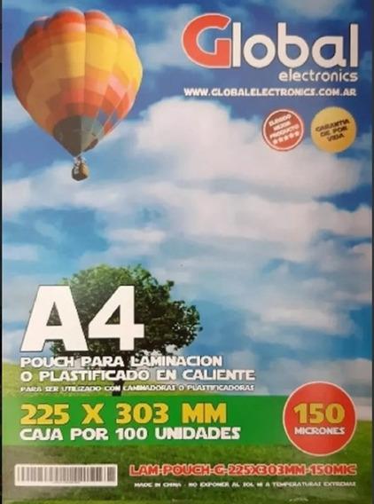 Pouch Glossy Para Laminación En Caliente A4 150 Mic X 100u