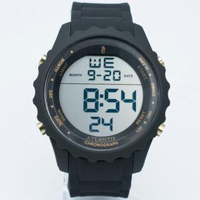 Relógio Esportivo Atlantis 18k Masculino Shock Militar Preto