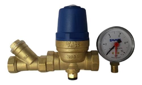 Imagem 1 de 5 de Manômetro + Filtro Y 3/4 + Redutora Pressão Eco Água Emmeti