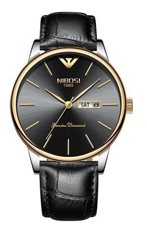 Relógio Pulso - Nibosi - 40mm - Pulseira Couro