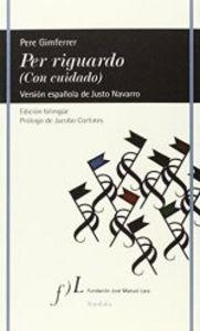 Per Riguardo De Pere Gimferrer - Gimferrer,pere (paperback)