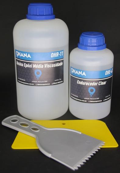 Resina Epoxi Cristal Rígida P/ Madeira E Laminados Kit 1,5kg